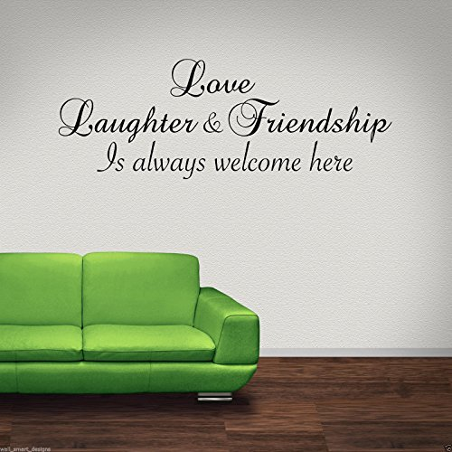 LOVE LAUGHTER FRIEND Wall Art Sticker Lounge Quote Decal Mural Transfer Stickers from Wall Smart Designs