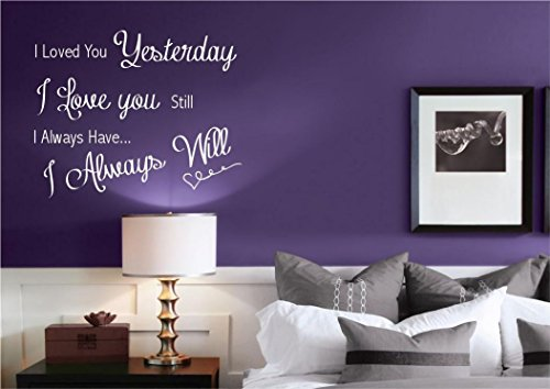 LOVE YOU ALWAYS ROMANCE WALL ART WALL STICKER DECAL MURAL STENCIL VINYL PRINT wsd433 from Wall Smart Designs