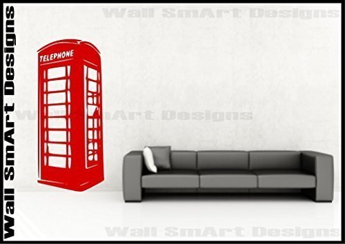 London Phone Box Wall Sticker Bedroom Lounge Kitchen Art Decal Mural from Wall Smart Designs