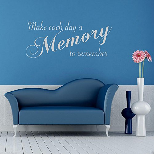 MEMORY TO REMEMBER Wall Art Sticker Lounge Quote Decal Mural Transfer Stickers WSD497 from Wall Smart Designs