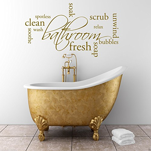 Relax Soap Bathroom Wall Art Sticker Quote Decal Mural Stencil Transfer Graphic WSD386 from Wall Smart Designs