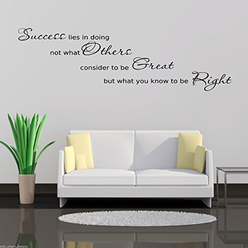 SUCCESS OFFICE Wall Art Sticker Hall Lounge Quote Decal Mural Stencil Transfer WSD610 from Wall Smart Designs