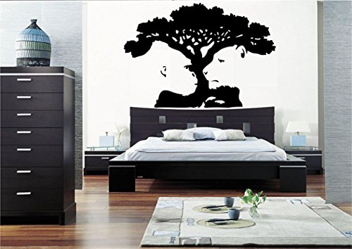 TIGER MONKEY TREE ILLUSION WALL ART STICKER DECAL MURAL BEDROOM VINYL STENCIL from Wall Smart Designs