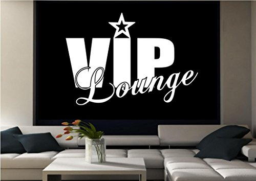 VIP LOUNGE CLUB WALL ART QUOTE LIVING ROOM STICKER DECAL MURAL ADHESIVE VINYL WSD600 from Wall Smart Designs