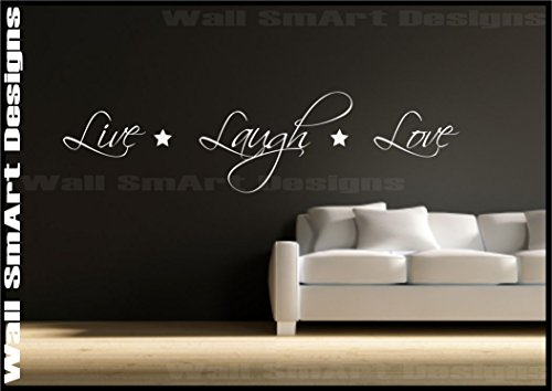 Wall Sticker Quote Live Love Laugh Decorative Mural Decal Vinyl Sticker from Wall Smart Designs