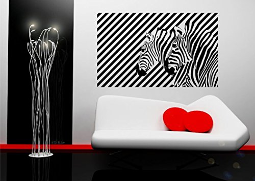 Zebra Illusion Vinyl Wall Sticker for living room bedroom mural decal art WSD674 from Wall Smart Designs
