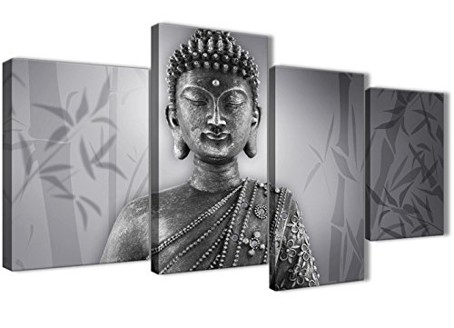 Black White Grey Bedroom Canvas Art Accessories Abstract 1368-120cm Print