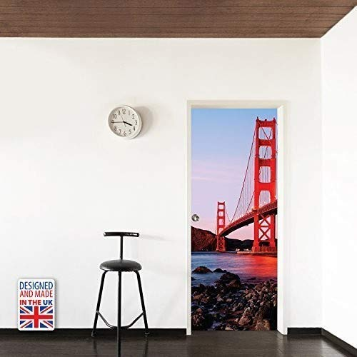 Walplus Golden Gate Bridge Wall Sticker, Vinyl, Multi-Colour, 103 x 5.4 x 5.4 cm from Walplus