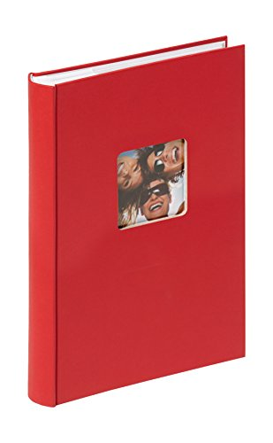 walther design ME-111-R Fun Standart high quality memo slip-in album with die cut for your personal picture, for 300 photos, 4 x 6 inch (10 x 15 cm), red from Walther