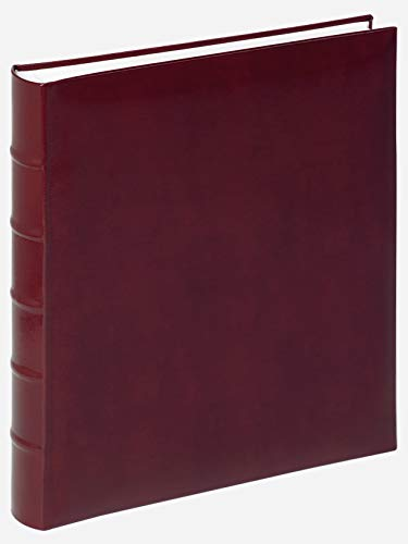 walther design FA-372-R Classic artificial leather  book bound album with ridged spine, 11.4 x 12.5 inch (29 x 32 cm), 60 white pages, red from Walther