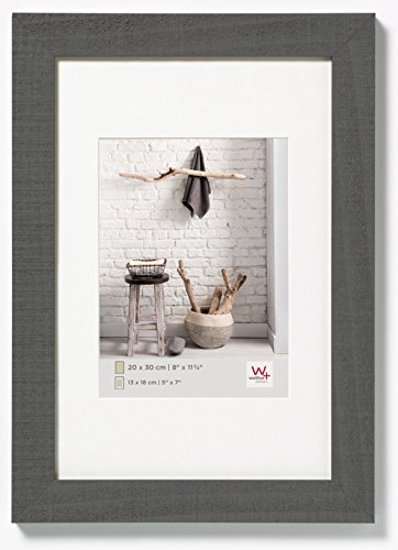 Walther design HO015D Home wooden picture frame, 4 x 6 inch (10 x 15 cm), grey from Walther