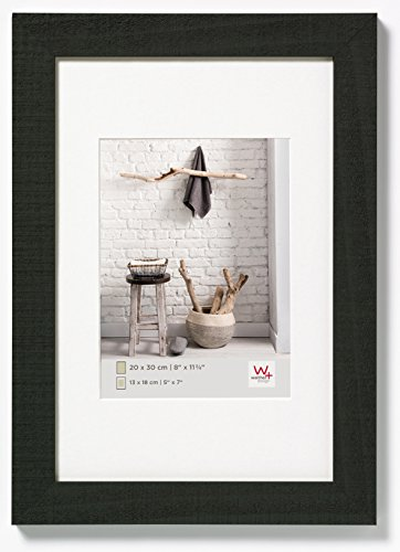 walther design HO030B Home wooden picture frame, 8 x 11.75 inch (20 x 30 cm),black from Walther