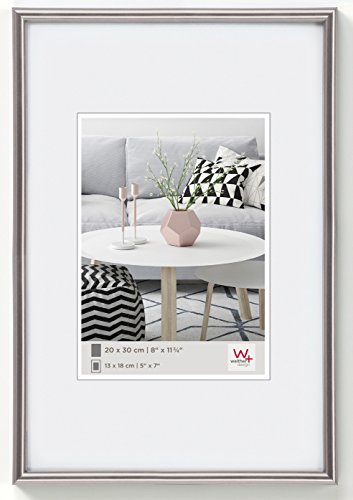 Walther design KD130H Galeria picture frame, 8.25 x 11.75 inch (21 x 29.7 cm), steel from Walther