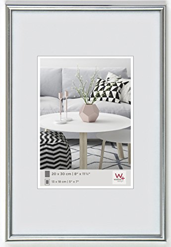 Walther design KS028H Galeria picture frame, 8 x 11 inch (20 x 28 cm), silver from Walther
