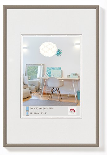 Walther design KV025D New Lifestyle picture frame, 8 x 10 inch (20 x 25 cm), steel from Walther