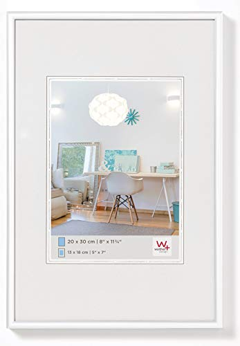 walther design KV030W New Lifestyle picture frame, 8 x 11.75 inch (20 x 30 cm), white from Walther