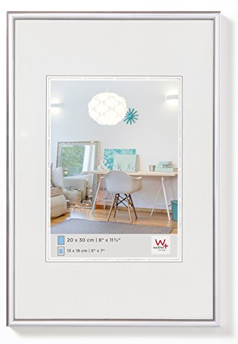 Walther design KV040S New Lifestyle, plastic frame, 30x40 cm, Silver, 1 piece from Walther