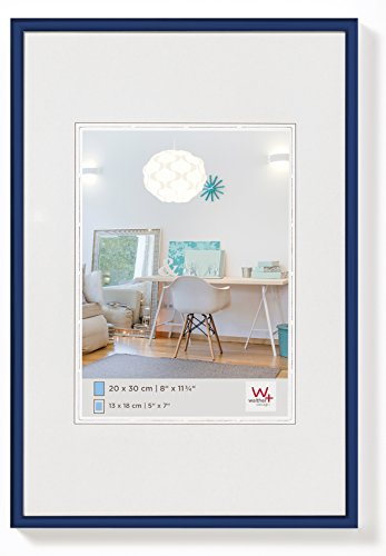 walther design KV050L New Lifestyle picture frame, 15.75 x 19.75 inch (40 x 50 cm), blue from Walther