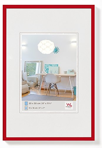 walther design KV130R New Lifestyle picture frame, 8.25 x 11.75 inch (21 x 29.7 cm), red from Walther