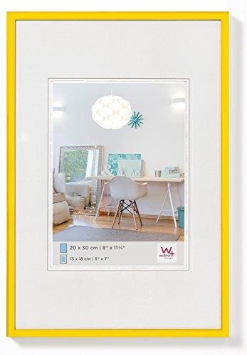 walther design KV318I New Lifestyle picture frame, 5 x 7 inch (13 x 18 cm), yellow from Walther
