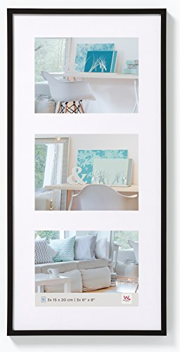 walther design KV338B New Lifestyle picture frame, 3X 5 x 7 inch (3X 13 x 18 cm), black from Walther