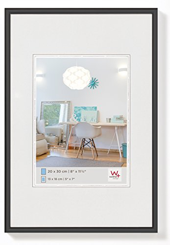 walther design KV824B New Lifestyle picture frame, 7 x 9.50 inch (18 x 24 cm), black from Walther