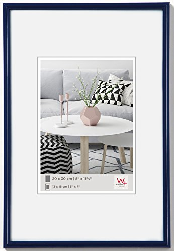 Walther design KL050H Galeria picture frame, 15.75 x 19.75 inch (40 x 50 cm), blue from Walther