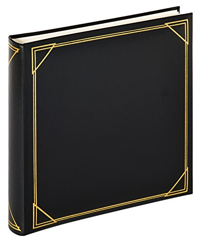 walther design MX-200-B Standart book bound album with artificial leather cover, with gold embossing, 11.75 x 11.75 inch (30 x 30 cm), 100 white pages, black from Walther