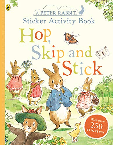Peter Rabbit Hop, Skip, Stick Sticker Activity from Warne