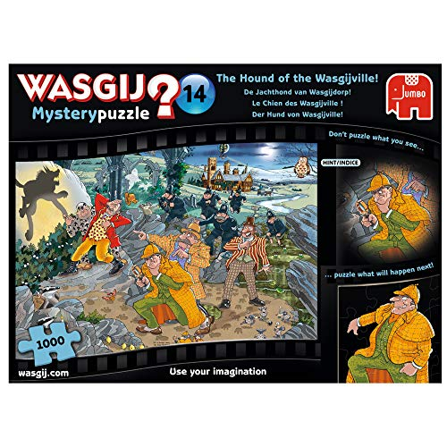 Jumbo 19158 Wasgij Mystery 14-Hound of The Wasgijville 1000 Piece Jigsaw Puzzle from Jumbo