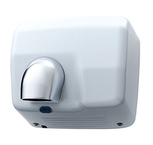 2500 Watt Electric Nozzle Hand And Face Dryer - Heavy Duty Automatic Drier - White from Washroom Hub