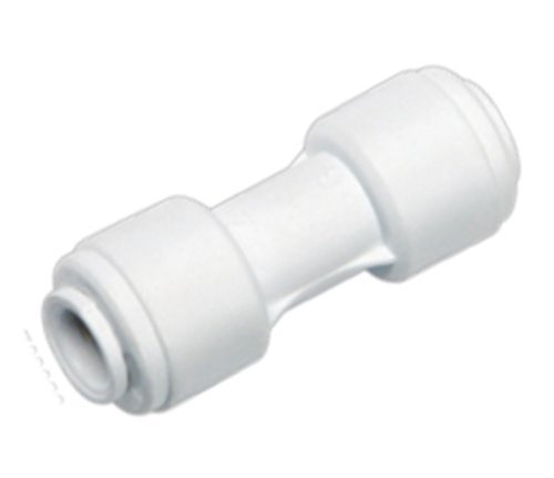 "AquaHouse® 1/4"" Straight Connector for Water Pipe & Fridge Tubing from Water Filter Man"
