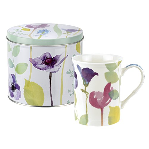 Portmeirion Home & Gifts Mug and Tin Set, Porcelain, Multi-Colour, 13 x 13 x 11.5 cm from Portmeirion Home & Gifts