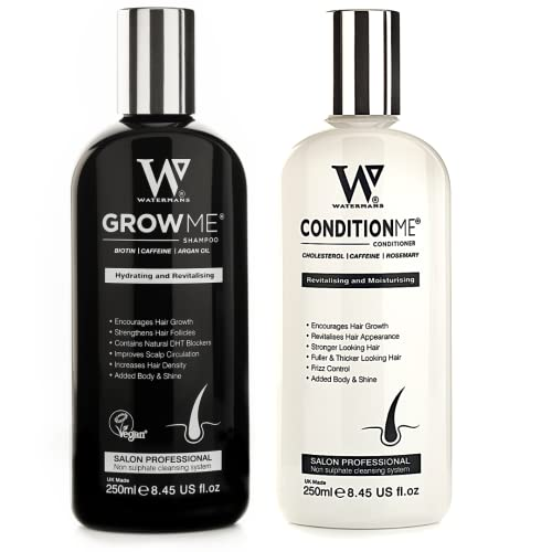 Hair Growth Shampoo and Conditioner by Watermans - Combo Pack - Best Amazon Hair Loss Products for Men and Women from WATERMANS
