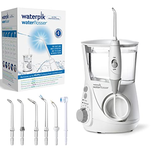 Waterpik WP-660UK Ultra Professional Water Flosser, White Edition (UK 2-Pin Bathroom Plug) from Waterpik
