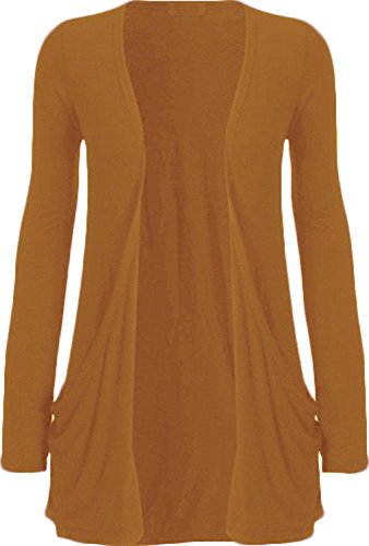 WearAll Ladies Long Sleeve Boyfriend Cardigan Womens Top - Mustard - 20/22 from WearAll