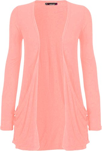 Ladies Long Sleeve Boyfriend Cardigan Womens Top - Pink - 20/22 from WearAll