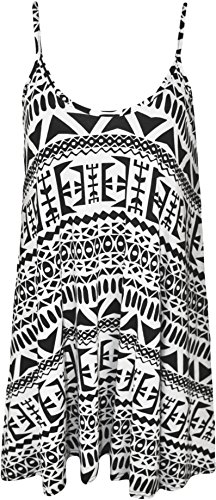 Plus Size Womens Printed Strappy Sleeveless Ladies Mini Dress Vest Top - Big Aztec - 20-22 from WearAll