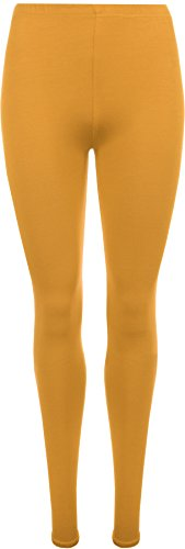 WearAll Ladies Stretch Long Leggings Womens Plus Size Mustard 12/14 from WearAll