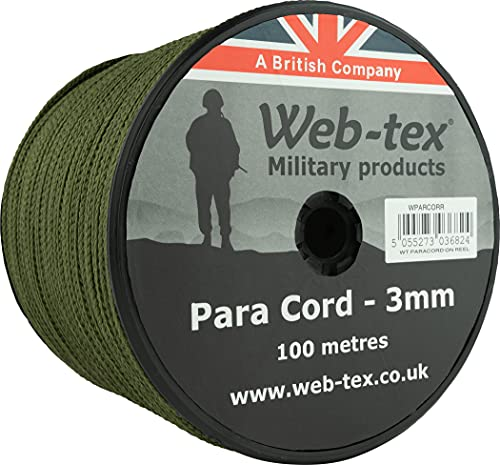 100m Paracord on Reel from WEB-TEX