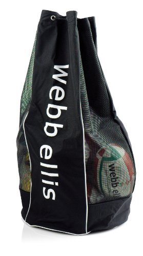 Webb Ellis Breathable Ball Storage Holdall - Black from Webb Ellis