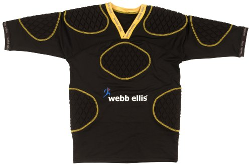 Webb Ellis Spectral Rugby Shoulder Pads - Black/Yellow, X-Large from Webb Ellis