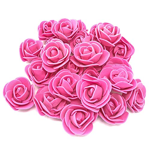 Pink 30mm Foam Rose Flowers Decorative Craft Flowers (10) from Wedding Touches