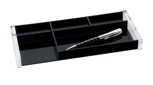 Wedo Acryl Exclusiv 601601 Pen Tray Transparent/Black from Wedo