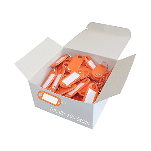 Wedo Key 262801806 Plastic with Ring – Removable Labels, Pack of 100 Orange from Wedo