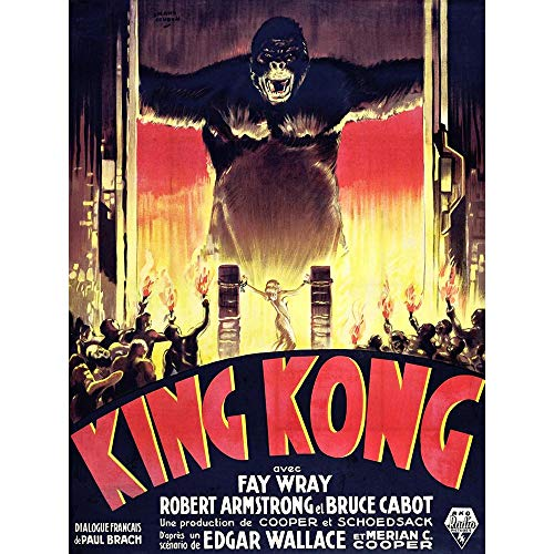 FILM KING KONG HORROR MONSTER 30X40 CMS FINE ART PRINT ART POSTER BB7864 from Wee Blue Coo Prints