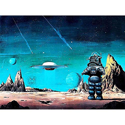 MOVIE FILM PAINTING ROBBY ROBOT FORBIDDEN PLANET SPACE STARS SCI FI USA 30x40 cms ART POSTER PRINT PICTURE CC6434 from Wee Blue Coo Prints