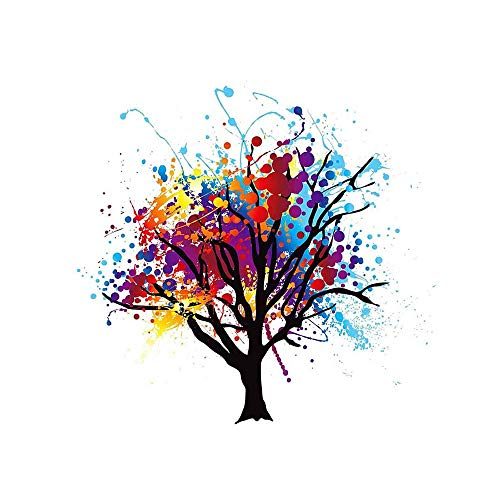 PAINTING ILLUSTRATION ABSTRACT COLOURFUL TREE SPLASH ART PRINT 12x16 '' POSTER MP3007B from Wee Blue Coo Prints