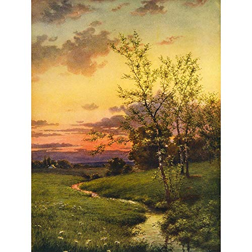 PAINTINGS LANDSCAPE SUNSET COUNTRYSIDE TREE NEW FINE ART PRINT POSTER PICTURE 30x40 CMS CC3664 from Wee Blue Coo Prints