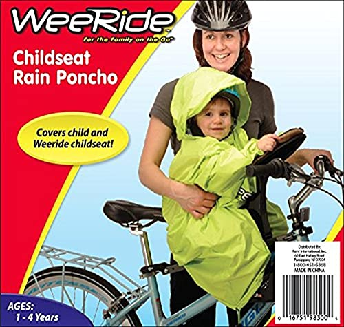 Weeride Poncho Rain Wind Protector - Yellow, 1-4 Years from Wee-Ride